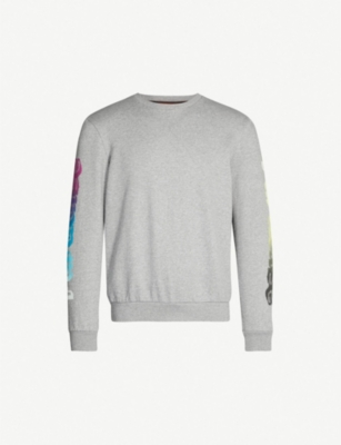 PAUL SMITH Slogan-print cotton-jersey sweatshirt
