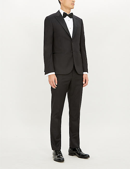 PAUL SMITH Pleated tailored-fit cotton shirt