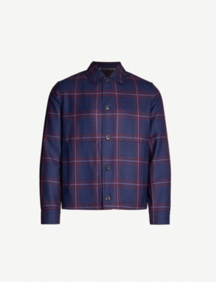 PAUL SMITH Checked wool jacket