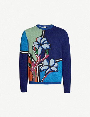 PAUL SMITH Floral motif wool jumper