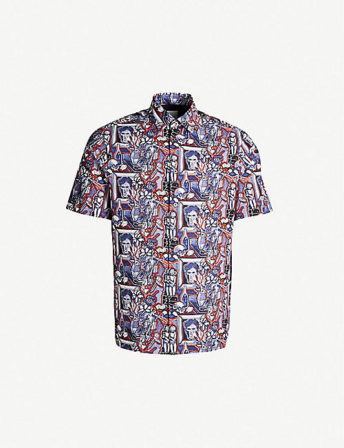 b746b26287dfda PAUL SMITH Artist Studio tailored-fit printed cotton shirt