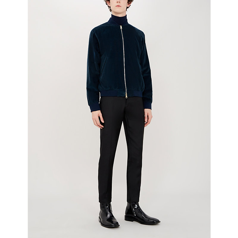 Paul Smith Jackets COTTON AND CASHMERE-BLEND BOMBER JACKET