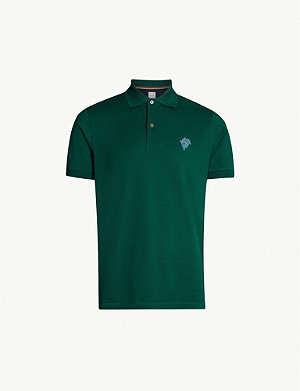 PAUL SMITH Logo-embroidered cotton-piqué polo shirt