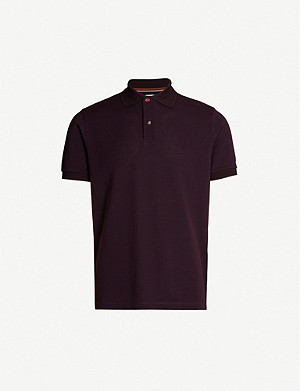 PAUL SMITH Contrast-buttons cotton-pique polo shirt