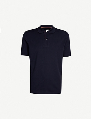 PAUL SMITH Contrast-stripe cotton-piqué polo shirt
