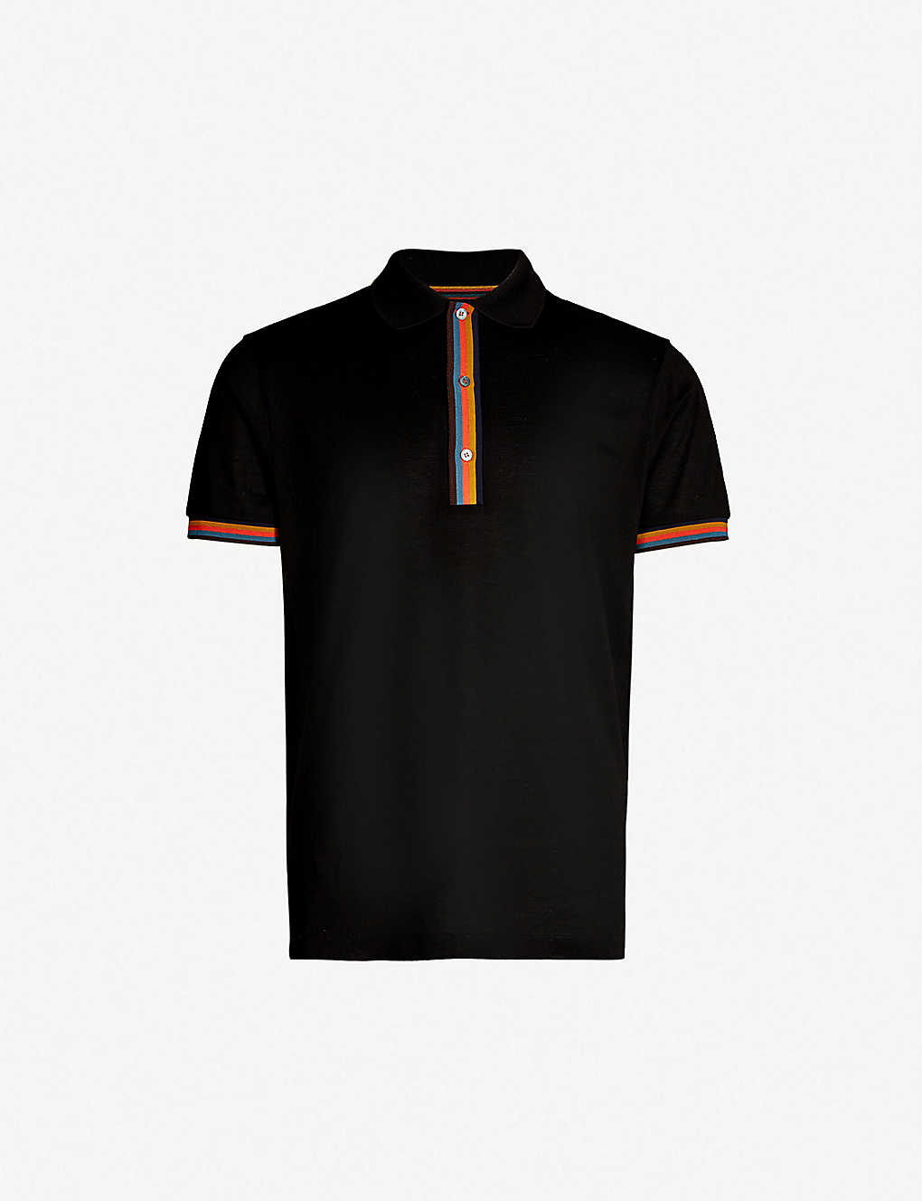 c6107904 PAUL SMITH - Contrast-trim cotton-piqu? polo shirt | Selfridges.com