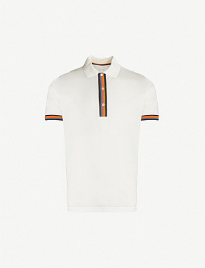 PAUL SMITH Contrast-trim cotton-piqué polo shirt