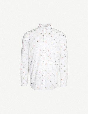 PAUL SMITH Studio objects-print Soho-fit cotton shirt