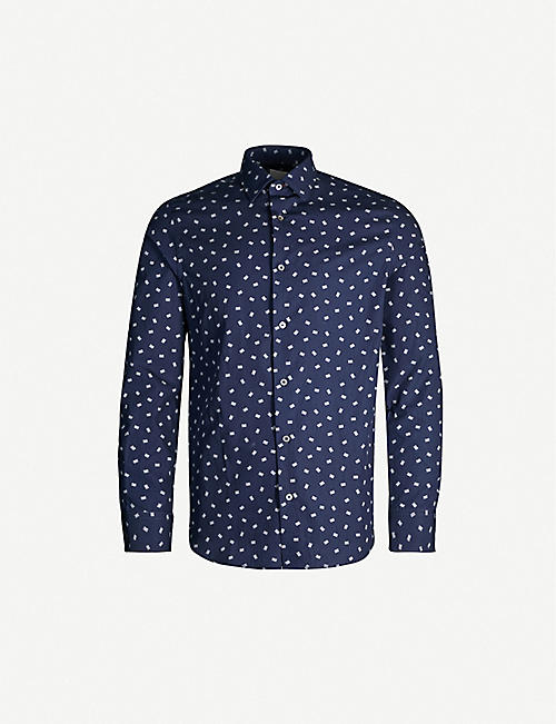 cb5edc2688 PAUL SMITH Floral-print slim-fit cotton shirt