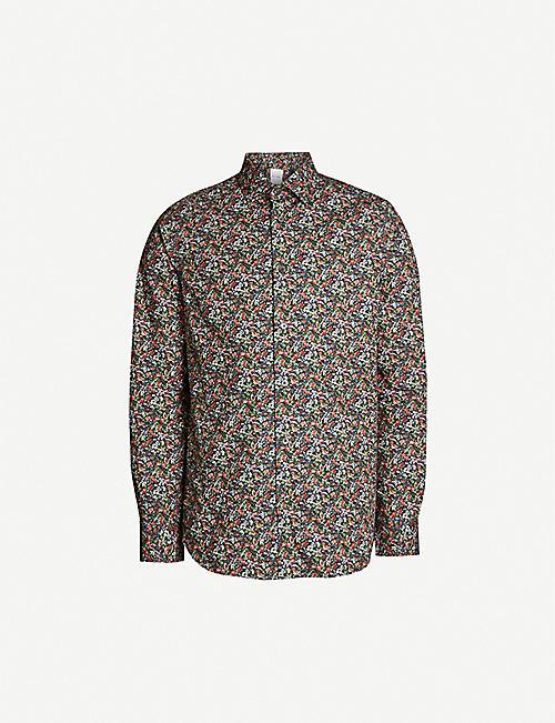 452d014322b3a3 PAUL SMITH Floral-print slim-fit cotton shirt