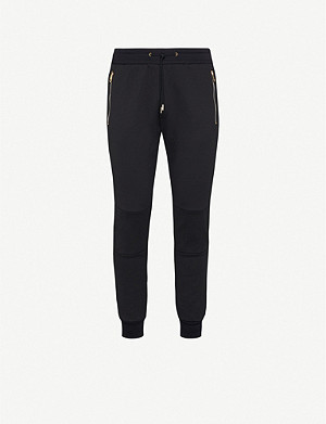 PAUL SMITH Branded-trim cotton-blend jersey jogging bottoms