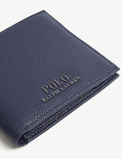 33df62292e68f3 POLO RALPH LAUREN Logo grained leather billfold wallet