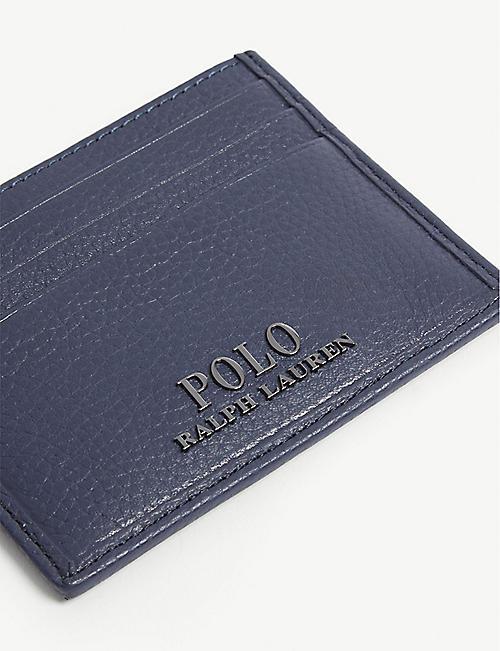 a149c7b2f1b5 POLO RALPH LAUREN Logo grained leather card holder