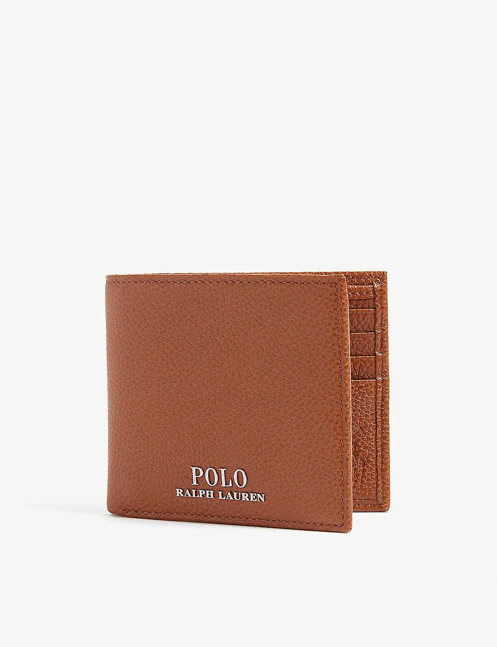 53abbbe75436 POLO RALPH LAUREN - Logo grained leather billfold wallet ...
