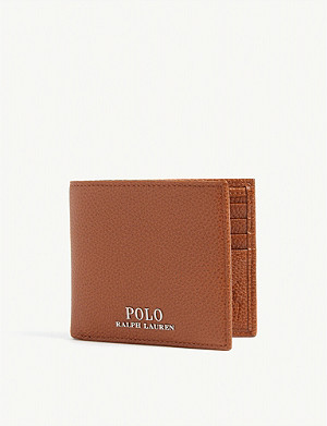 b2d78e351242 POLO RALPH LAUREN - Pony-embossed pebbled leather coin wallet ...