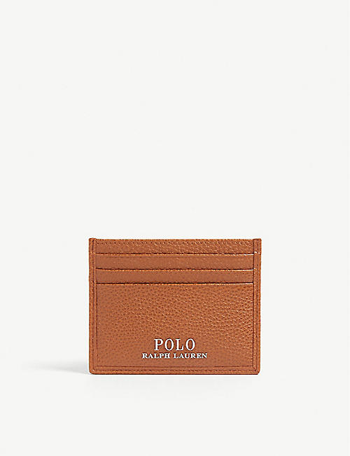 08c6a8cd173 POLO RALPH LAUREN Logo grained leather card holder