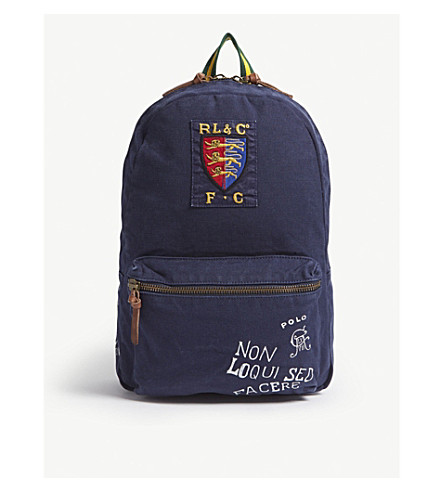 48692e341aea ... POLO RALPH LAUREN Printed canvas backpack (Navy. PreviousNext