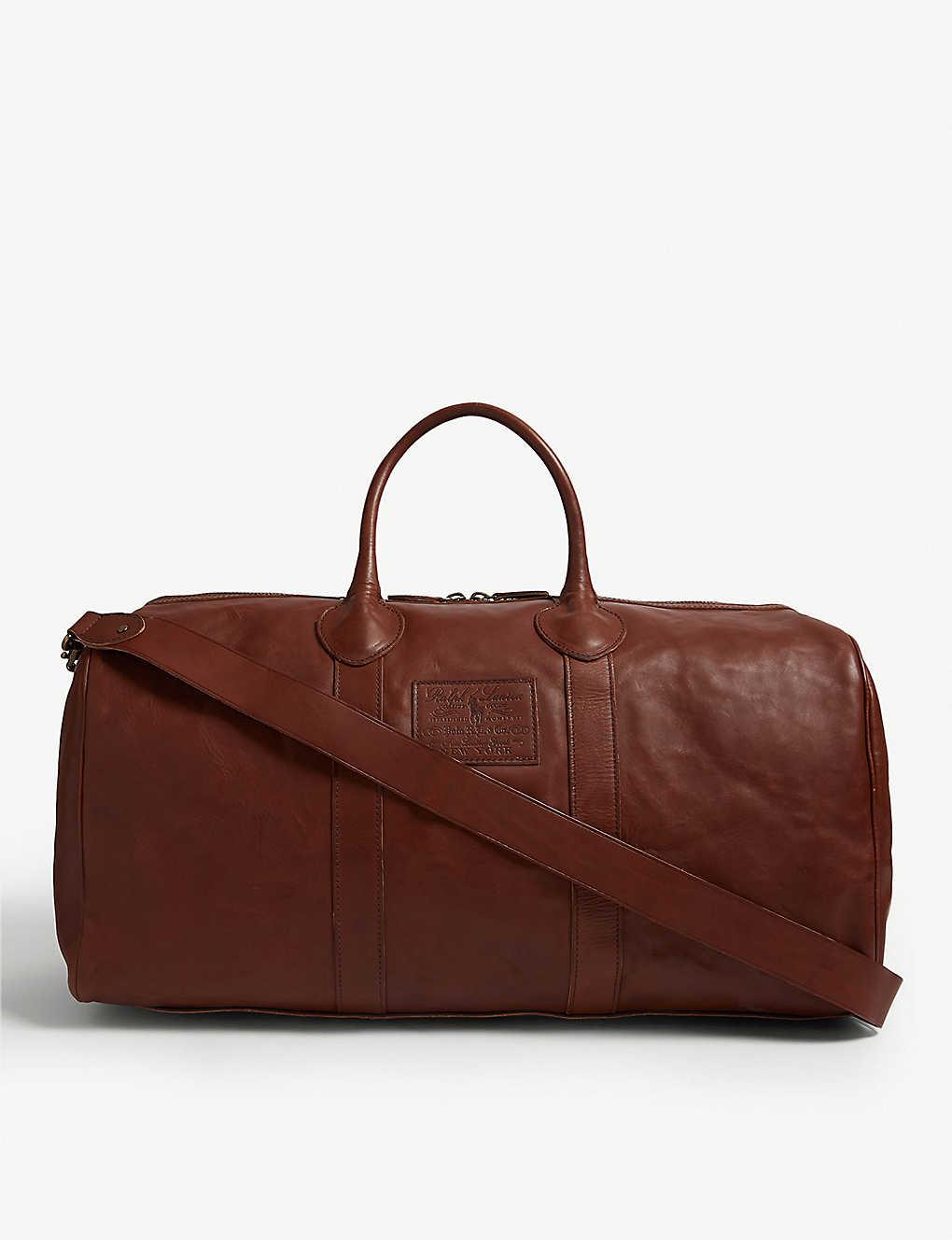 ba04feefd POLO RALPH LAUREN - Leather duffle bag