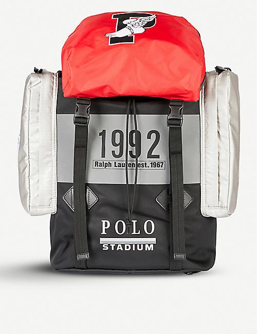 POLO RALPH LAUREN Winter Stadium 1992 High Tech woven shell backpack b512f8e5fb240