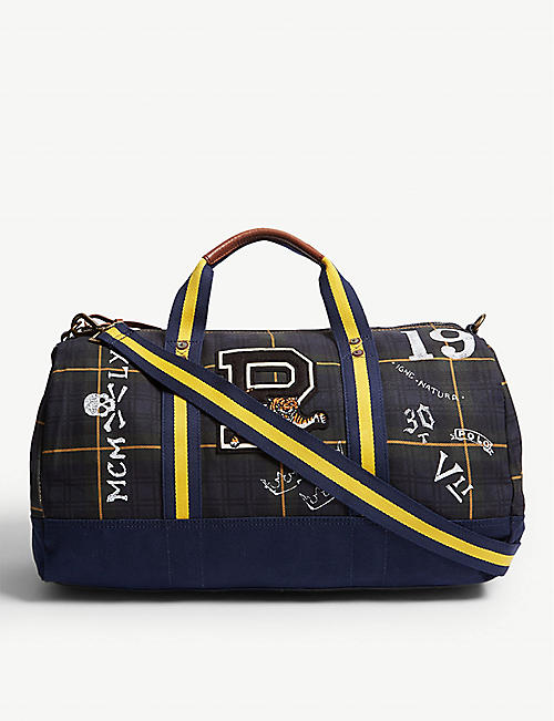 e6b03c2cbc3 POLO RALPH LAUREN Tartan canvas duffle bag