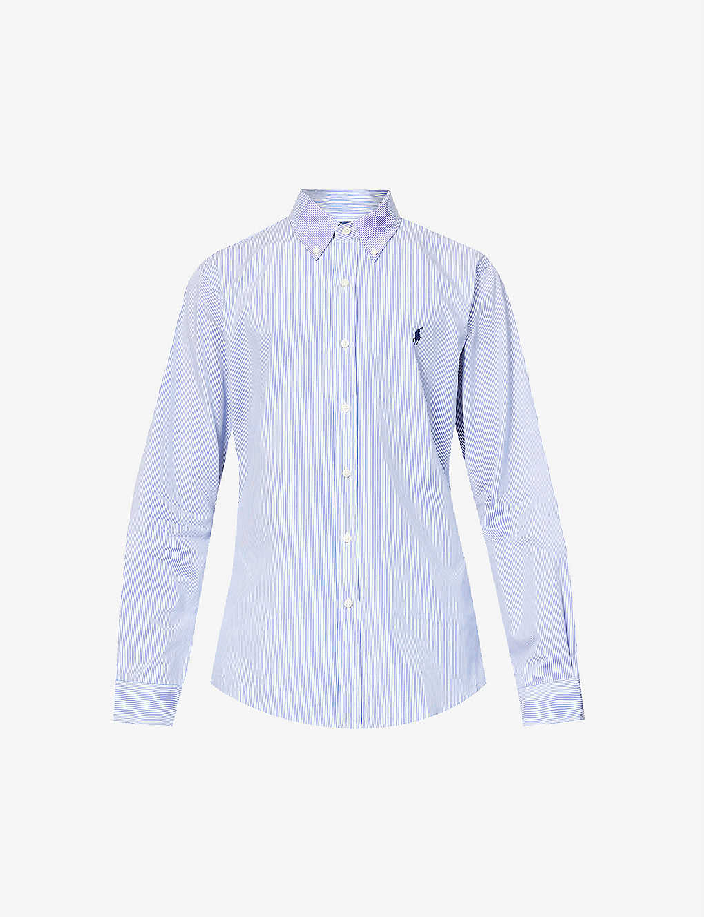 POLO RALPH LAUREN: Striped slim-fit cotton shirt