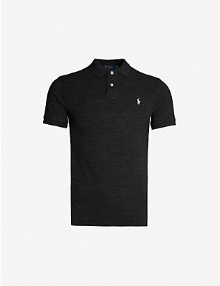 POLO RALPH LAUREN: Logo-embroidered slim-fit cotton polo shirt