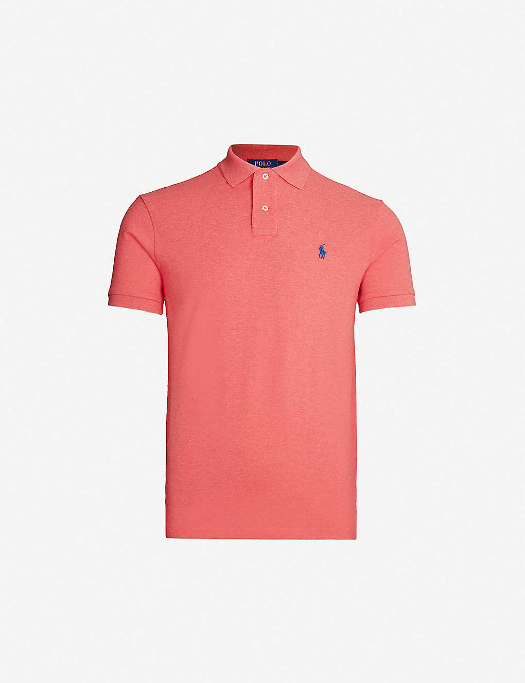 ad92fe64 Logo-embroidered cotton-piqué polo shirt - Highland rose heather ...