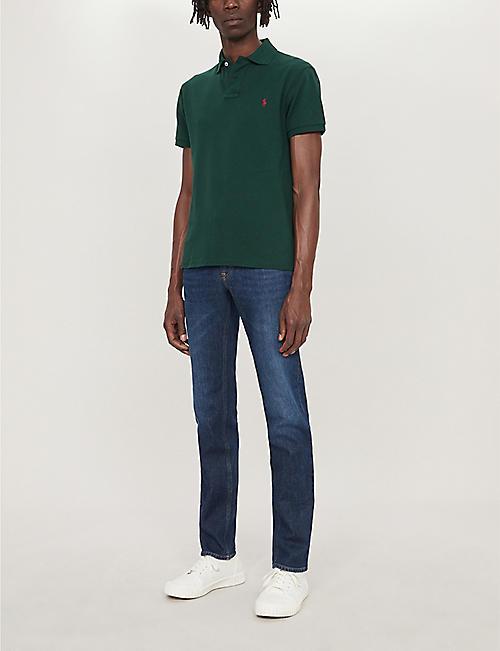 e6ae8cda5 POLO RALPH LAUREN Logo-embroidered cotton-piqué polo shirt