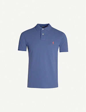 POLO RALPH LAUREN Logo-embroidered cotton-piqué polo shirt
