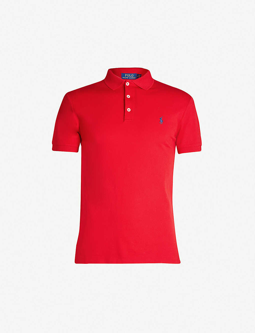466ac7f1 POLO RALPH LAUREN - Logo-embroidered cotton-piqué polo shirt ...