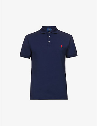 POLO RALPH LAUREN: Slim-fit cotton-piqué polo shirt