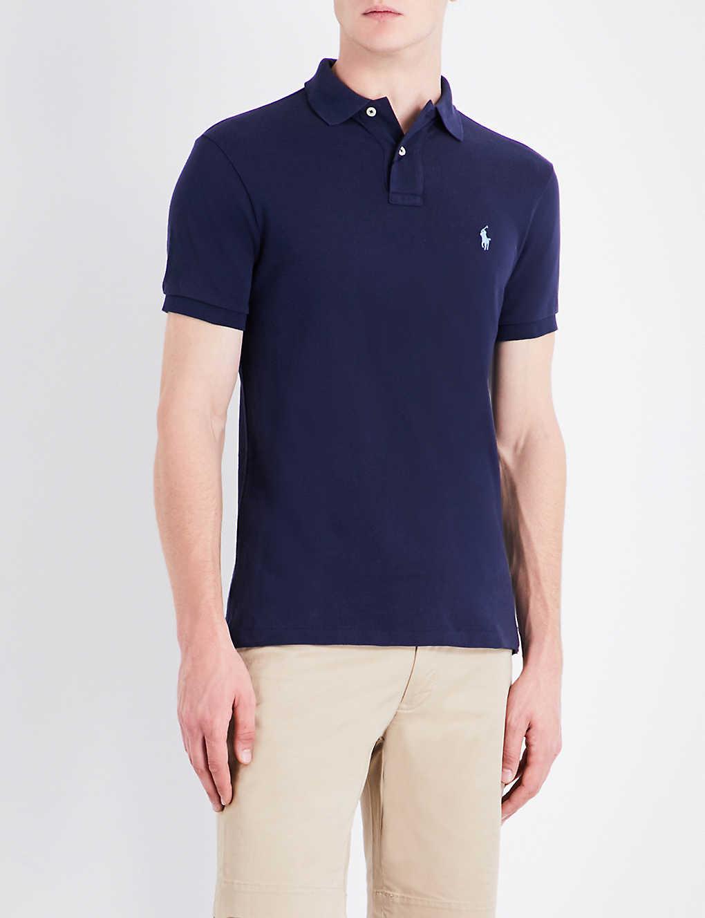 715acfc537e75a POLO RALPH LAUREN - Slim-fit cotton-pique polo shirt | Selfridges.com