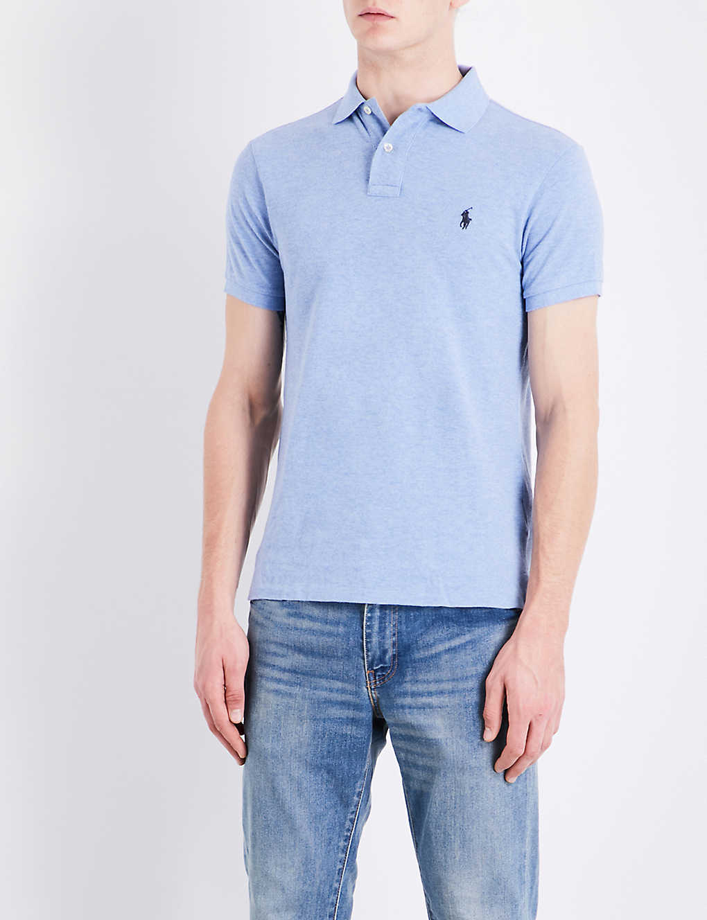 9ae7ba01 POLO RALPH LAUREN - Slim-fit cotton-pique polo shirt | Selfridges.com