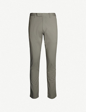 POLO RALPH LAUREN Slim-fit straight-leg cotton-blend twill trousers