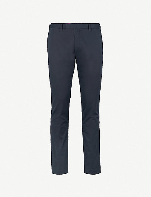 POLO RALPH LAUREN: Slim-fit cotton-blend chinos