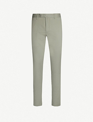 POLO RALPH LAUREN Slim-fit tapered cotton-blend twill trousers