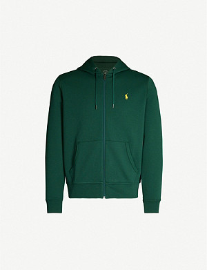 POLO RALPH LAUREN Faded cotton-jersey hoody