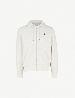 POLO RALPH LAUREN Logo-embroidered tech-jersey hoody