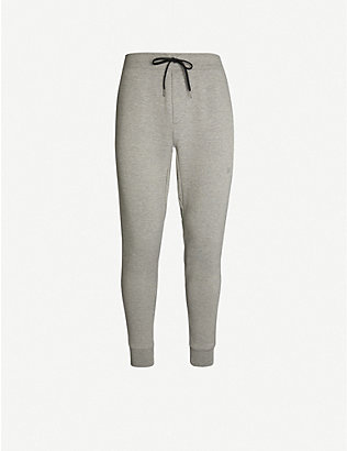 POLO RALPH LAUREN: Logo-embroidered jersey jogging bottoms