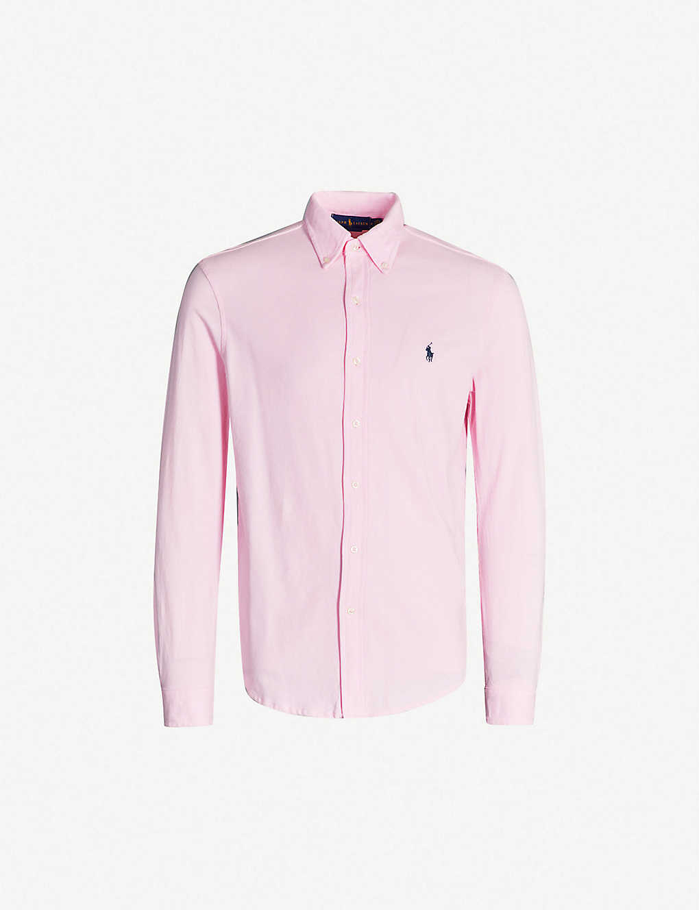 4328c496 POLO RALPH LAUREN - Standard-fit featherweight cotton-piqu? shirt ...