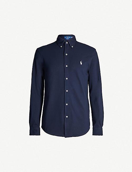e5198f37c367a3 POLO RALPH LAUREN Regular-fit cotton-jersey shirt