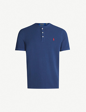 POLO RALPH LAUREN Logo-embroidered cotton Henley shirt