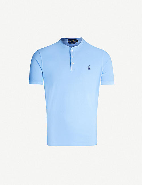 4408cf5d842e POLO RALPH LAUREN Logo-embroidered cotton-piqué polo shirt
