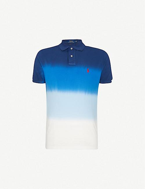 0557a050f POLO RALPH LAUREN Ombré-print cotton-piqué polo shirt