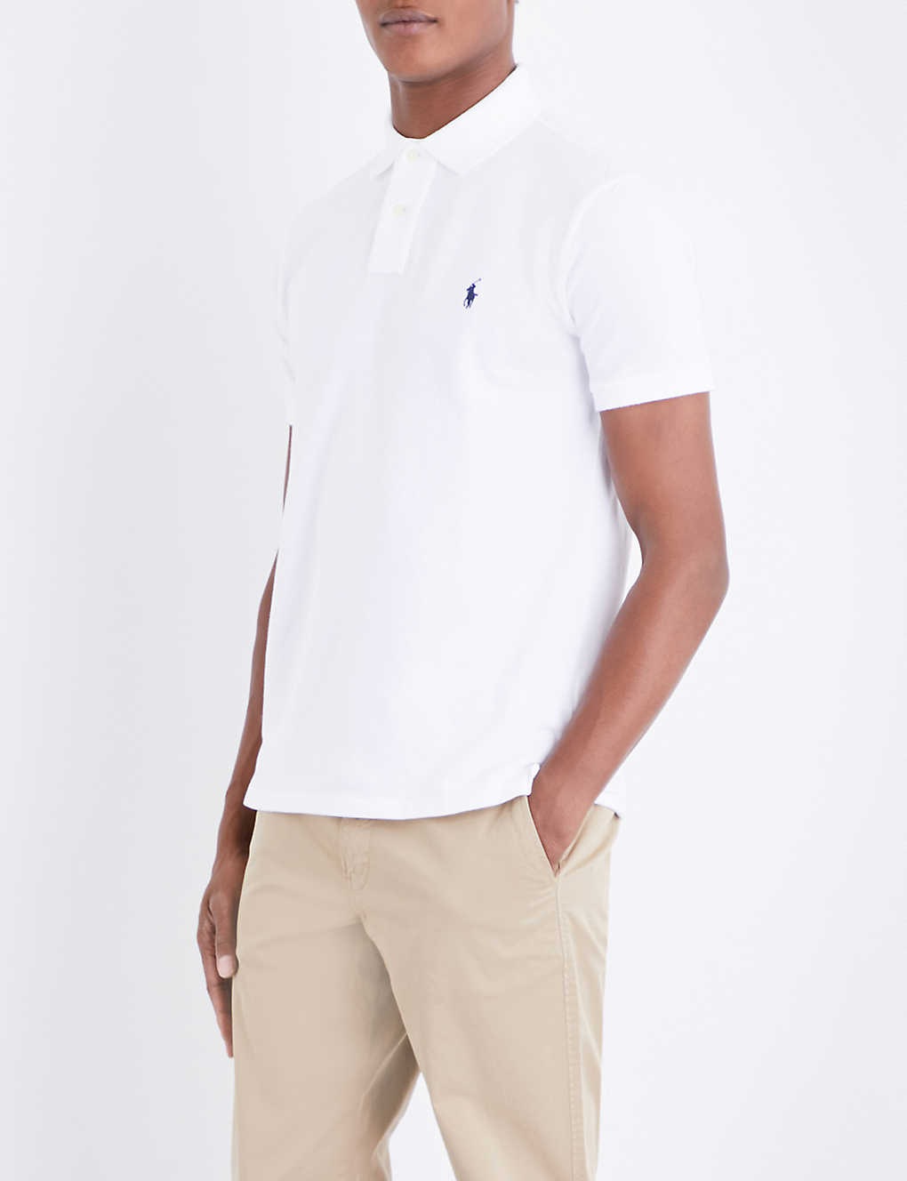 4c79b8a49fe1 POLO RALPH LAUREN - Custom slim-fit cotton Polo Shirt | Selfridges.com