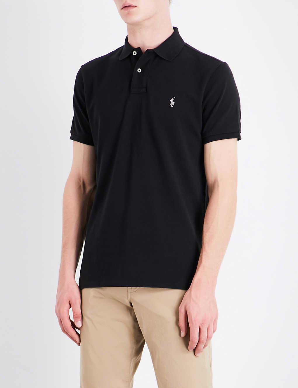 b3ad98c9 POLO RALPH LAUREN - Custom-fit cotton-pique polo shirt   Selfridges.com