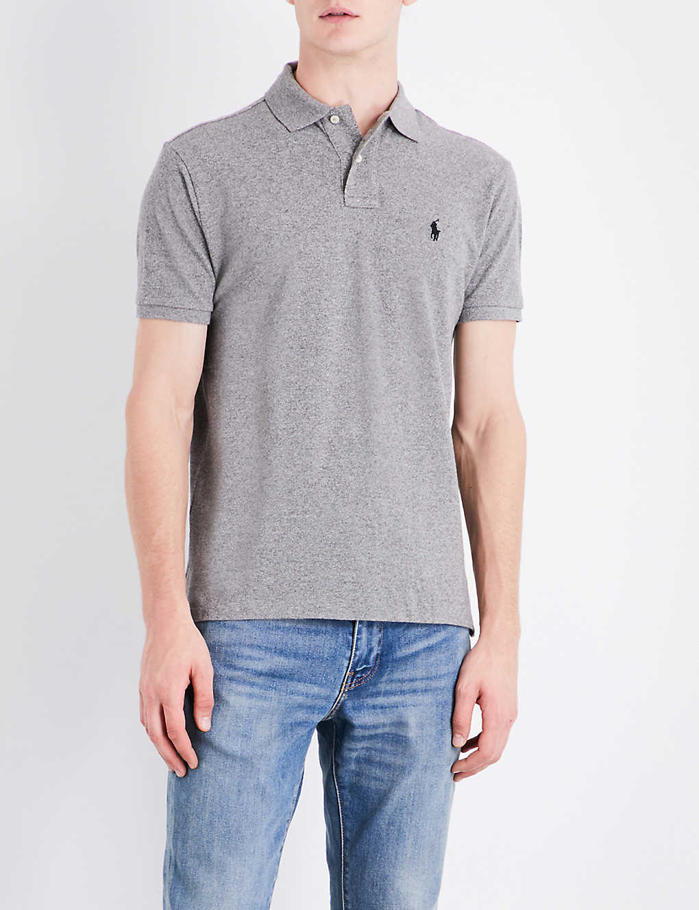 1801a395 POLO RALPH LAUREN - Custom-fit cotton-pique polo shirt | Selfridges.com
