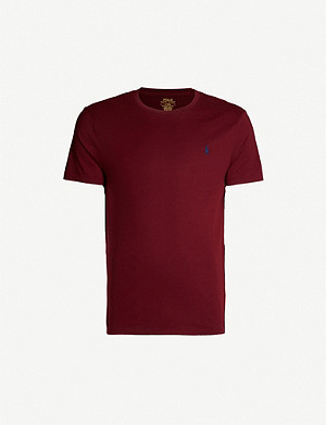 POLO RALPH LAUREN Slim-fit short-sleeved cotton-jersey T-shirt