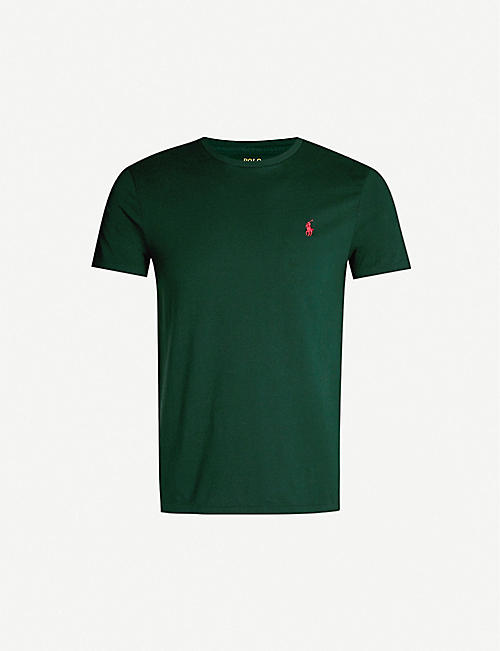 cc8fd9ff POLO RALPH LAUREN Logo-embroidered slim-fit cotton-jersey T-shirt