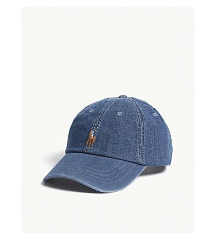 ... POLO RALPH LAUREN Pony denim cotton strapback cap (Medium+wash.  PreviousNext 722f093d463